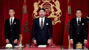 Le roi du Maroc Mohammed VI à l'occasion d'un discours télévisé, à Al Hoceima le 29 juillet 2018. Photo du Palais royal du Maroc.