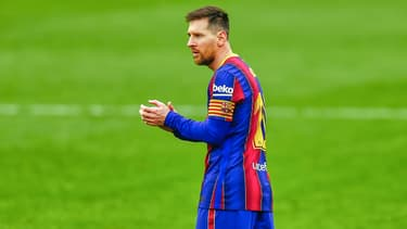Lionel Messi lors de Séville-Barça le 27 février 2021