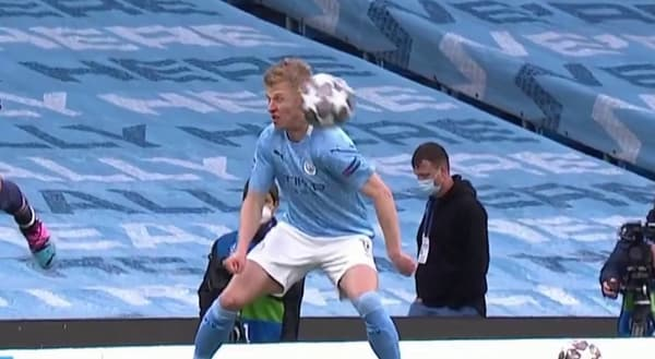Man City-PSG: l'épaule de Zinchenko