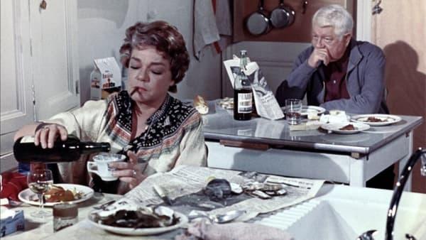 Simone Signoret et Jean Gabin dans Le Chat