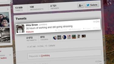 Mita Diran avait tweeté sa surcharge de travail peu de temps avant sa mort.