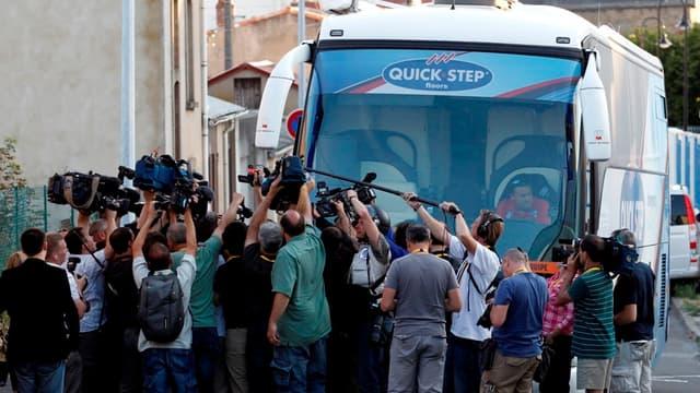 Le bus de l'équipe Quick Step