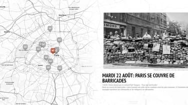 Une carte interactive permet de se balader dans le Paris de la Libération.