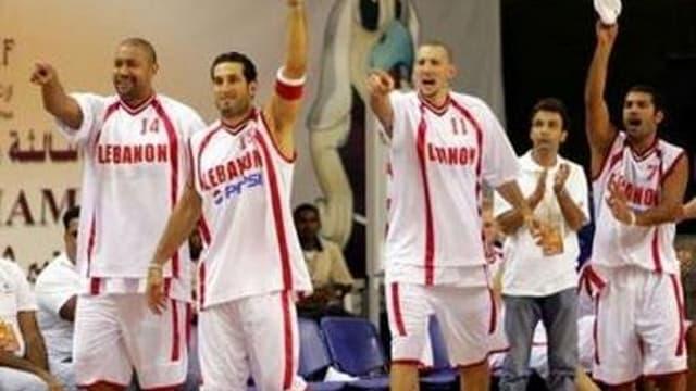 L'équipe libanaise de basket
