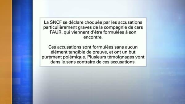 Le communiqué de la SNCF