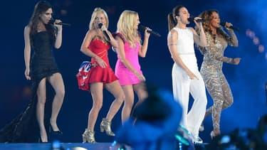 Les Spice Girls en 2012, lors de la cérémonie de clôture des JO de Londres