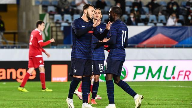 Amine Gouiri & Jonathan Ikoné - France U21