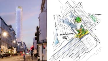 Cet immeuble sera la deuxième tour mixte de Londres.