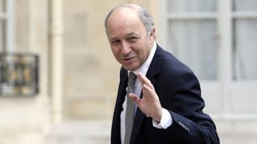 Laurent Fabius, ministre des Affaires étrangères, arrivant à l'Elysée, le 17 novembre 2012.