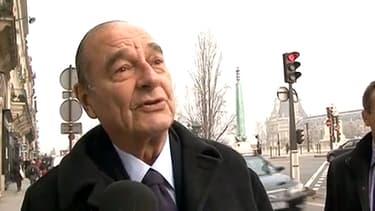 L'ancien président de la République Jacques Chirac en 2011