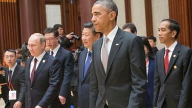 Vladimir Poutine et Barack Obama le 11 novembre 2014