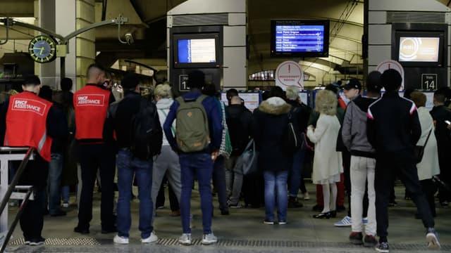 La grève de la SNCF, le 8 avril 2018 à la gare Montparnasse de Paris