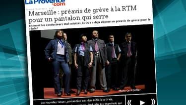La Provence relaie le préavis de grève des salarié de la RTM à Marseille.