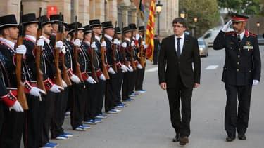 Carles Puigdemont, le 2 octobre 2017. Le président de la Catalogne a fait savoir que la région pourrait proclamer son indépendance d'ici la fin de la semaine.