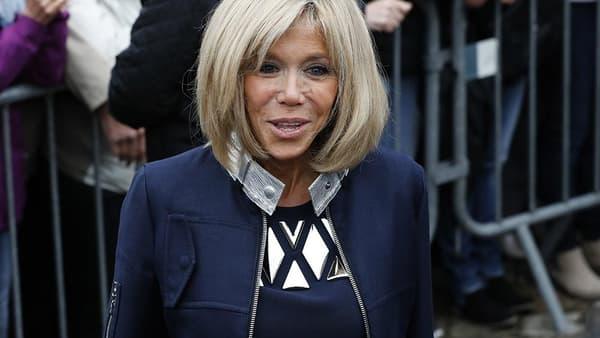 Brigitte Macron en Louis Vuitton, le 7 mai 2017.