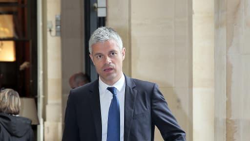 """Pour Laurent Wauquiez, ici le 29 avril dernier à l'Assemblée nationale, """"le rapprochement avec le centre"""" prôné par Juppé est """"une profonde erreur""""."""
