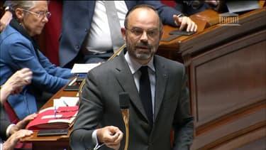 Le Premier ministre Édouard Philippe à l'Assemblée nationale.