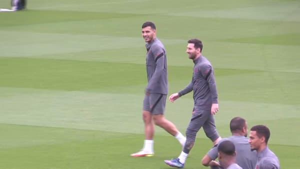 Lionel Messi à l'entraînement