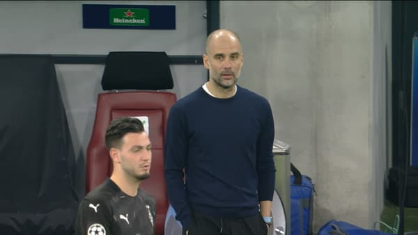 Pep Guardiola et Ramy Bensebaini