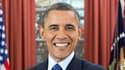 Photographie officielle du président américain Barack Obama pour son second mandat, prise dans le Bureau ovale de la Maison Blanche.