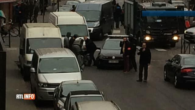 Les images de l'arrestation de Salah Abdeslam, ce vendredi, à Molenbeek.