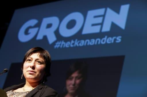 Meyrem Almaci, présidente du parti Groen, le 15 novembre 2014 à Bruxelles