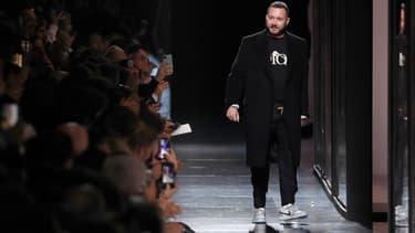 Kim Jones en janvier 2020, à l'issue d'un défilé Dior Homme