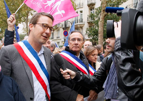 Guillaume Peltier a manifesté dimanche.