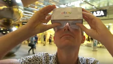 Un consommateur immergé dans le magasin virtuel créé par eBay avec Myer.