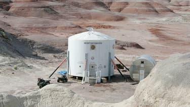 La capsule Mars Research Station dans le désert de l'Utah, en 2005.