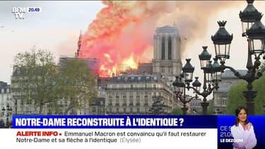 Notre-Dame: Emmanuel Macron est convaincu qu'il faut restaurer le monument et sa flèche à l'identique