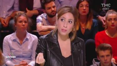 """Léa Salamé sur le plateau de """"Quotidien"""", lundi 2 octobre 2017"""