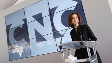 Audrey Azoulay sur le stand du CNC lors du festival de Cannes