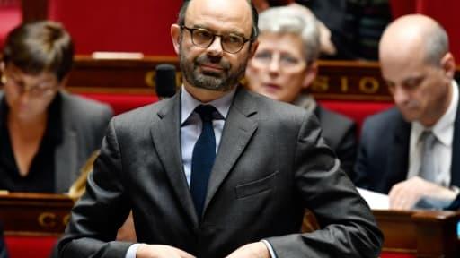 Le Premier ministre français Edouard Philippe à l'Assemblée nationale, le 14 mars 2018