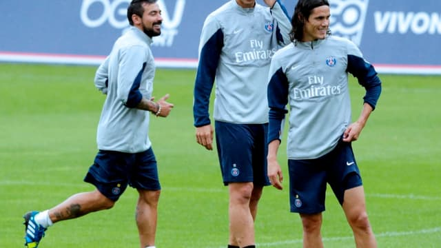Lavezzi, Ibrahimovic et Cavani
