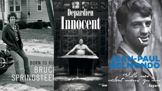 Trois géants ont sorti une autobiographie en cette fin d'année: Bruce Springsteen, Gérard Depardieu et Jean-Paul Belmondo.