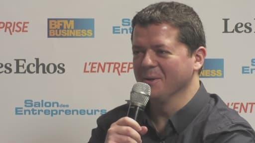 Romain Niccoli, cofondateur de Criteo dans le studio officiel du Salon des Entrepreneurs.