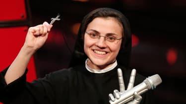 Soeur Cristina, une religieuse sicilienne, a remporté jeudi la version italienne du concours de chant télévisé The Voice.