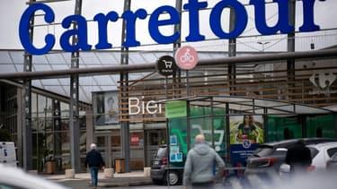 Un hypermarché Carrefour à Saint-Herblain, près de Nantes, le 13 janvier 2021