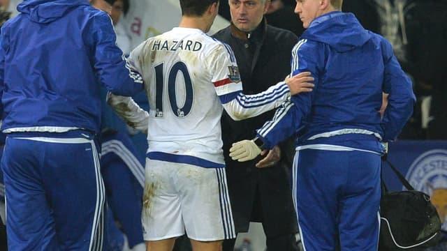 Eden Hazard et José Mourinho