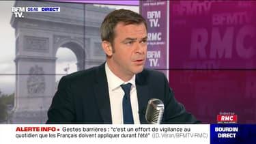 Olivier Véran face à Jean-Jacques Bourdin en direct - 10/07