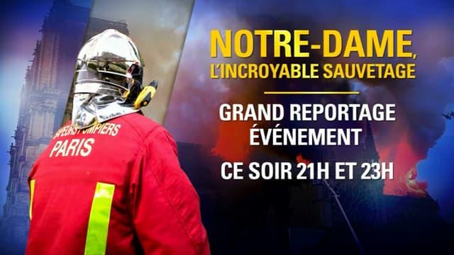 """""""Notre-Dame, l'incroyable sauvetage"""" sur BFMTV"""
