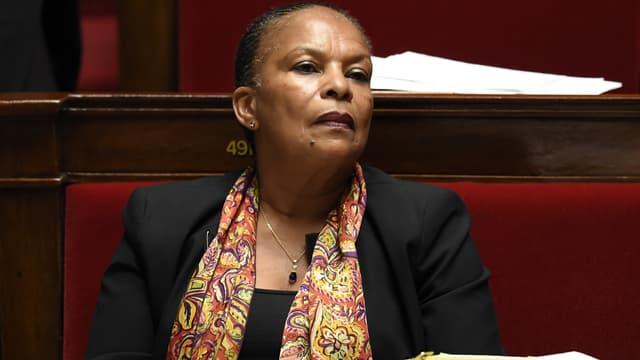 Christiane Taubira, le 7 octobre, à l'Assemblée nationale.