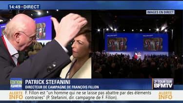 """François Fillon au Zénith: """"Ce meeting n'est pas une stratégie de victimisation"""", Patrick Stefanini"""