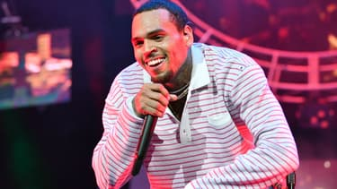 Chris Brown en concert à Los Angeles en 2018