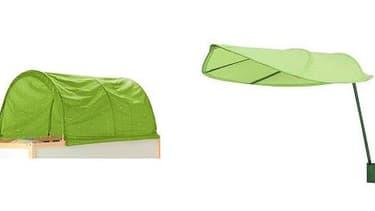 Les modèles Kura et Löva sont épargnés par le rappel des ciels de lit par Ikea.