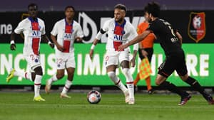 Neymar lors de Rennes-PSG, le 9 mai 2021.