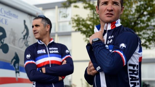 Thomas Voeckler, ici avec Laurent Jalabert