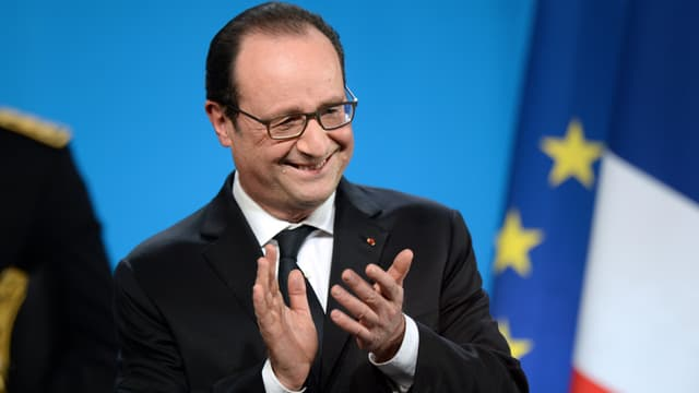 François Hollande à Tulle pour ses voeux aux territoires, le 17 janvier 2015.