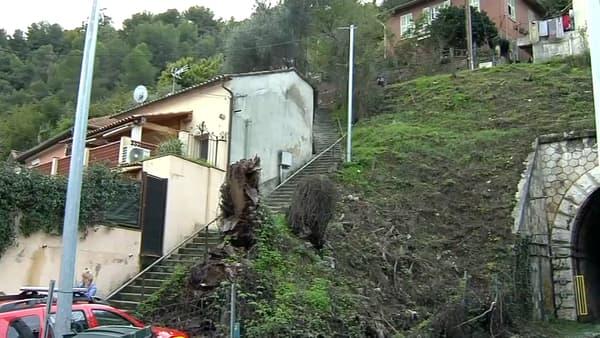 Une femme est portée disparue à Nice après un éboulement de terrain.